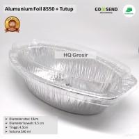 Alumunium Foil Cup 8550+Tutup - Lasagna, Macaroni Schotel