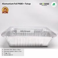 Alumunium Foil Cup P680+Tutup, Lasagna, Macaroni Schotel