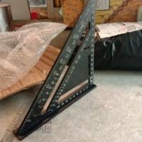 penggaris waterpass segitiga / speed square / siku tukang / triangle