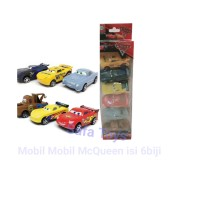 Mainan Mobil McQueen Cars Set Isi 6pcs