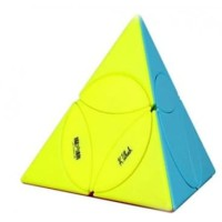 Rubik Twisty Puzzle - QiYi Coin Tetrahedron Pyramid - Stickerless