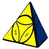 Rubik Twisty Puzzle - QiYi Coin Tetrahedron Pyramid - Black Base