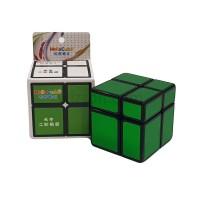 Rubik 2x2 Hello Cube Mirror 2x2 Black + Green Sticker