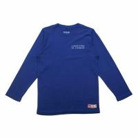 Kaos Lengan Panjang Pria dan wanita Rdvsn Cotton 32s Biru