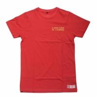 Kaos lengan pendek pria cotton 32s Merah