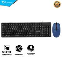 Alcatroz Keyboard Xplorer K330 Silent Wired Combo Mouse Asic Pro 8