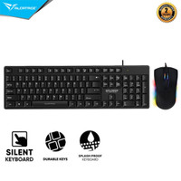 Alcatroz Keyboard Xplorer K330 Silent Wired Combo Mouse Wired Asic 9