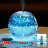 Humidifier LED Night Projection Aromtheraphy/ Aroma Terapi Lamp 500ml