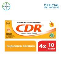 CDR Suplemen Kalsium Rasa Jeruk 10 Tablet x 4 unit