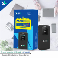 Mifi Modem Wifi 4G All Operator HKM001 Free Perdana XL Go IZI [BYPASS]