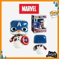 Marvel Holiday- Captain America Cap Snowman Christmas Funko POP Figure