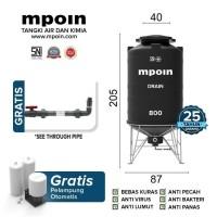 Tangki Air / Tandon / Toren MPOIN PLUS DRAIN 800 Liter
