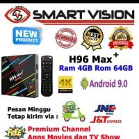 Android tv box H96 MAX PLUS RAM 4GB ROM 64GB RK3328 OS 8.1 FULL APPS