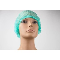 Hairnet Cap Green Color 1 Pack isi 10 pcs