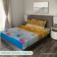 King Rabbit Sprei Single uk. 120x200 cm Motif Beach Teddy