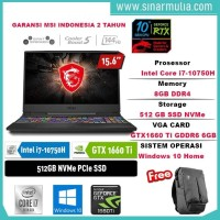 MSI GL65 10SDK-426ID i7-10750H gtx1660ti 144Hz 8GB 512 GB NVME WIN10