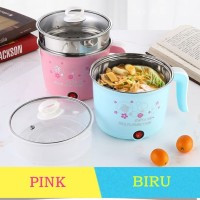 Electric Cooking Pot 18cm / pemanas air/telur - Biru Muda