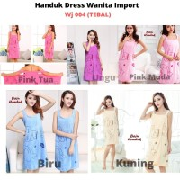 Handuk Dress / Handuk Baju / Kimono Wanita Motif Ukuran 130 x 80cm