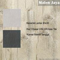 Keramik Lantai 30x30 Kw 1 Kasar OSCAR Asia Tile Kamar Mandi Tangga