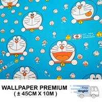 Wallpaper Dinding Stiker Walpaper dinding Doraemon Kotak 3D 45cmx10m