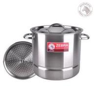 Zebra Rice Steamer Set + Steam Plate 26x26 (171400) / Panci Kukus SS