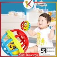 SK-M10 Mainan Bayi Bola Kerincingan Bahan Karet Lembut Teether Rattle