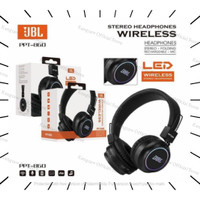 Headphone Gaming Bluetooth PPT860 LED - Wireless Headset Mic Stereo