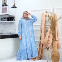 GAMIS WANITA / HOMIE DRESS MOTIF ELEA ETNIK MAXY DRESS BAHAN RAYON