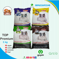 GOJEK PROMO! Pasir Kucing TOP premium Repack 5 kg Bentonite cat litter