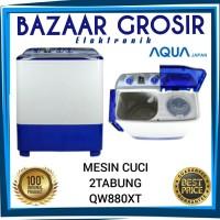 MESIN CUCI AQUA 8KG 2 TABUNG QW880XT QW 880 XT