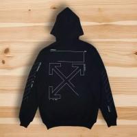 Jaket Hodie Off White Authentic Sweater Hoodie Premium Hype M L XL