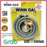 WINN GAS   PAKET Selang Gas PREMIUM + REGULATOR 199