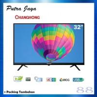 CHANGHONG LED TV 32 INCH L32G3 USB HDMI SLIM BEZZEL + PACKING TAMBAHAN