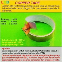 Copper Tape/ Tembaga Tape 2 meter x 10 mm