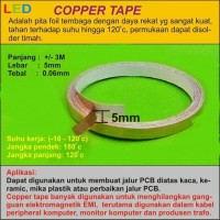 Copper Tape/Tembaga Tape 3 meter x 5 mm