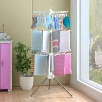 Stand Hanger Jemuran Baju Popok Anak Bayi Jemuran Lipat Menara Towel