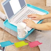 Meja lipat portable laptop plastik travel foldable Anak belajar Makan