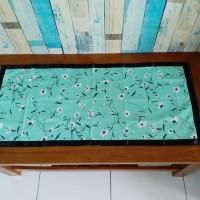 Taplak meja tamu 40x90 cm - monalisa hijau