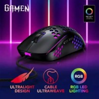 Gamen GM710 Ultralight Weight Wired Gaming Mouse Honeycomb RGB