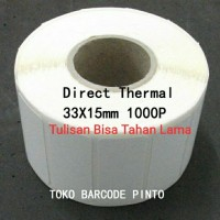 "33X15mm 1Line 1000pcs,Direct Thermal Gap2mmCORE1""Label stiker Barcode"