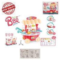 Pretend Toys Trolley Cart Rotating BBQ Centre Playset Kereta Dorong