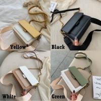 Sling Bag Rantai T1736 Tas Slempang Strap Gaya Kasual Wanita Import