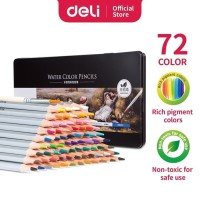 DELI 72w Pensil Warna Cat Air Watercolor Pencil color 6524 ATK0998DL