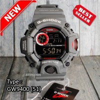 TERLARIS !!! G Shock RANGEMAN ARMY GW-9400 Tali Abu Grey jam tangan