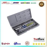 Aiwa Kunci Pas 40 Pcs Multipurpose Combination Socket Wrench Set with