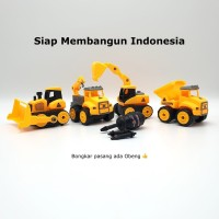 Mainan Anak - DIY Assembly Engineering Truck Set (4 Model)
