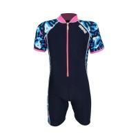 Arena Childrens Sunsuit NB AUV-20308 Baju Renang Jumpsuit Anak Biru