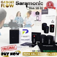 Microphone Wireless 2 Orang Saramonic Blink 500 B2 Dual Smartphone