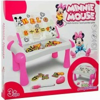 Meja Belajar Magnetic Board Learning Sketchpad Minnie Papan Tulis Pink