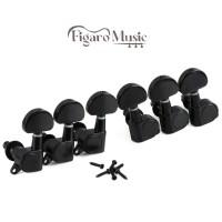Dryer Tuning Peg Gitar Akustik & Elektrik - 6 pcs fullset - Black